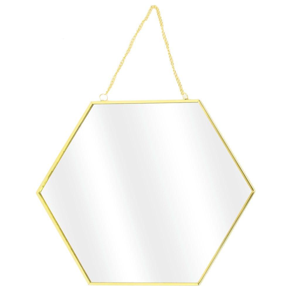 Miroir héxagonal or L 35 x H 30.5 cm - L 30 x H 26 cm - L 25 x H 21.8 cm - par 3
