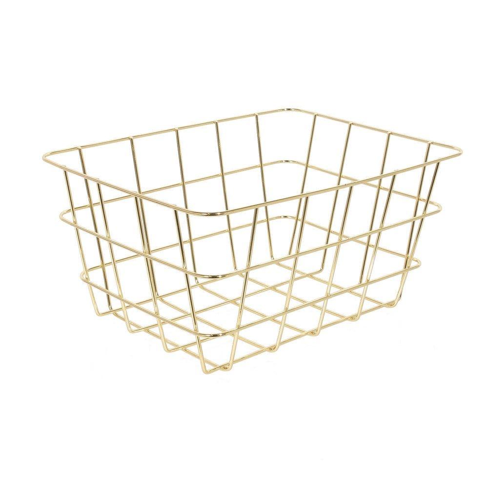 Panier filaire doré L 24,4 x P 12 x H 18,6 cm