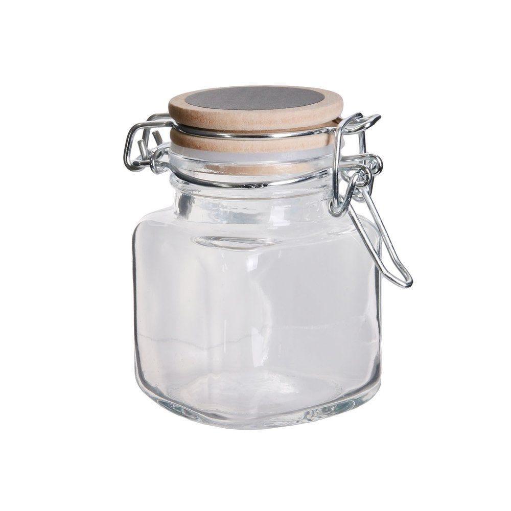 Bocal en verre avec couvercle craie Ø 5,3 x H 7.7 cm (photo)