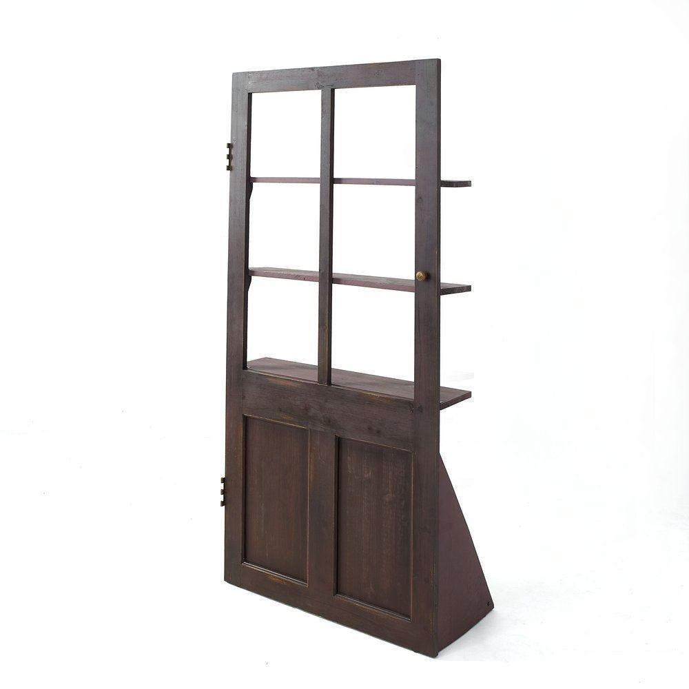 Porte décorative en bois avec étagères L 85 x P 20 x H 180cm
