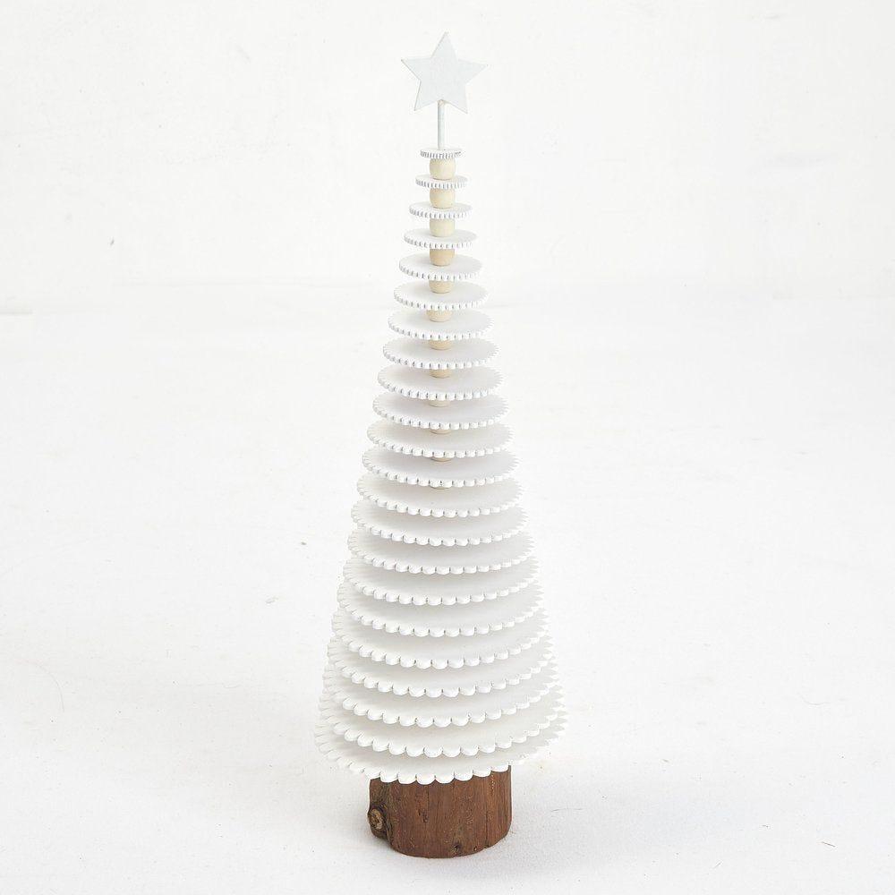 Sapin blanc stylisé Ø 13 x H 40 cm