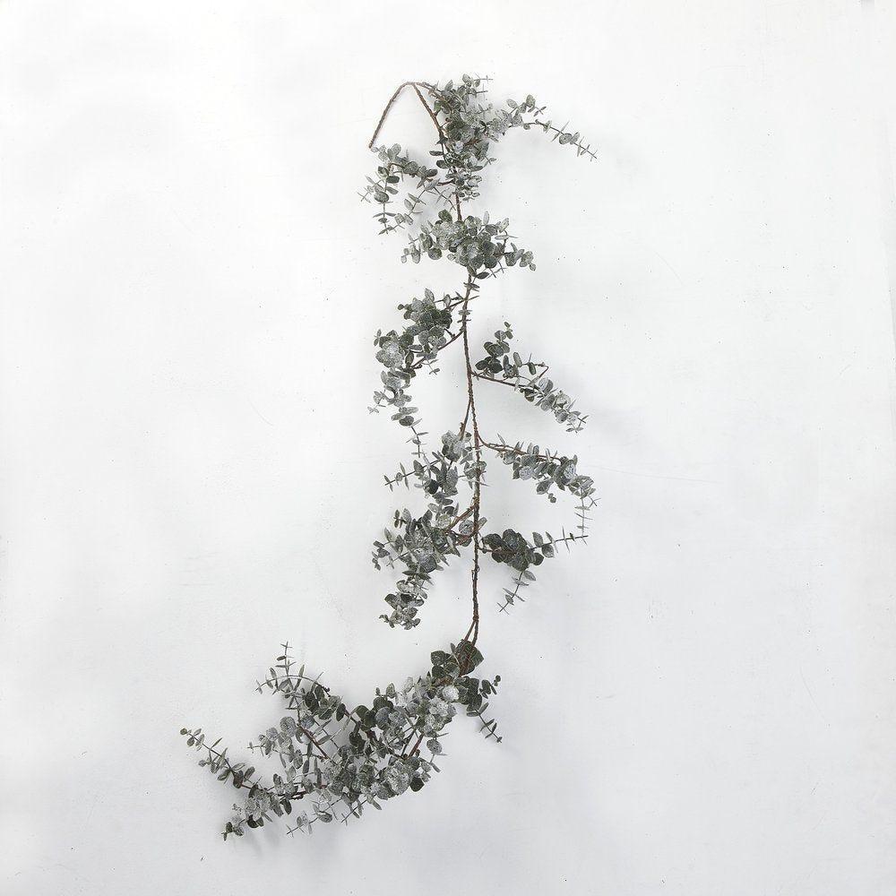Guirlande d'eucalyptus givrée L 120 cm