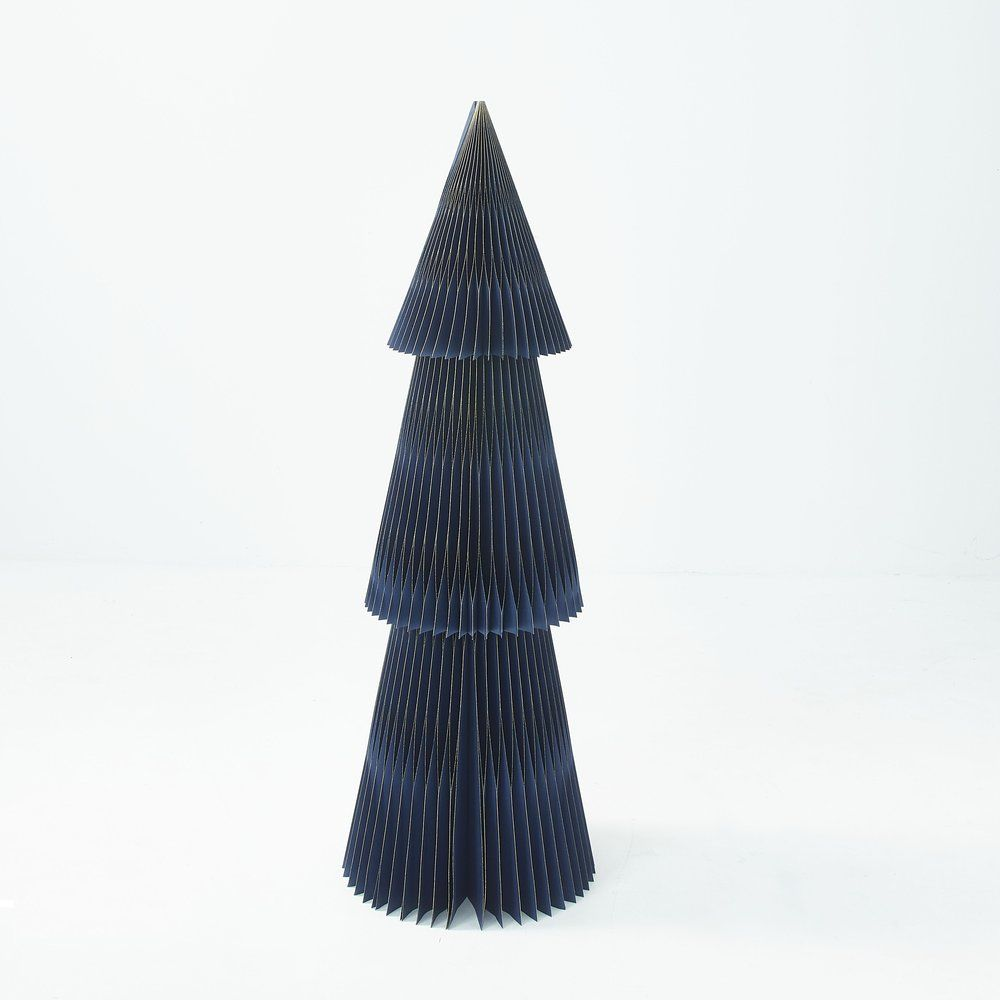 Sapin bleu nuit à déplier et à monter H 150 cm