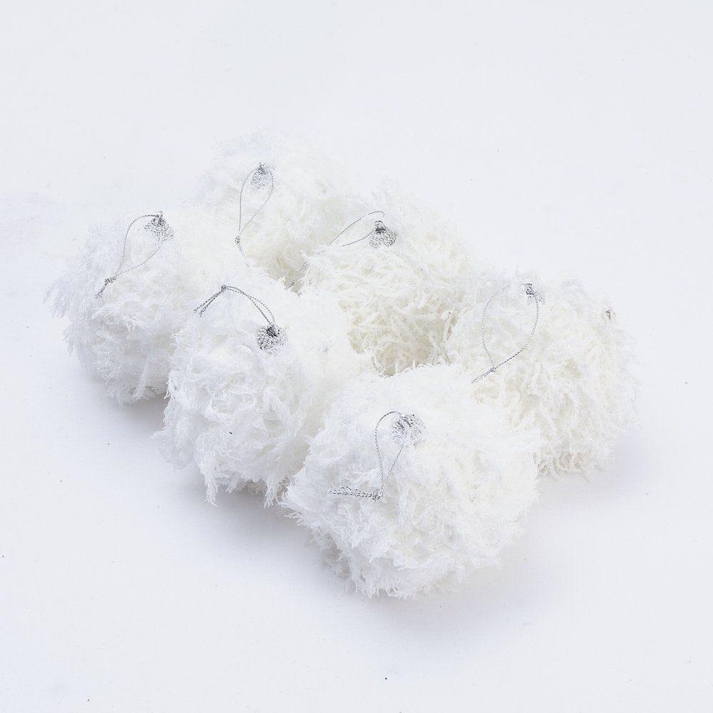 Boules de glace blanches ø 10 cm - boite de 6