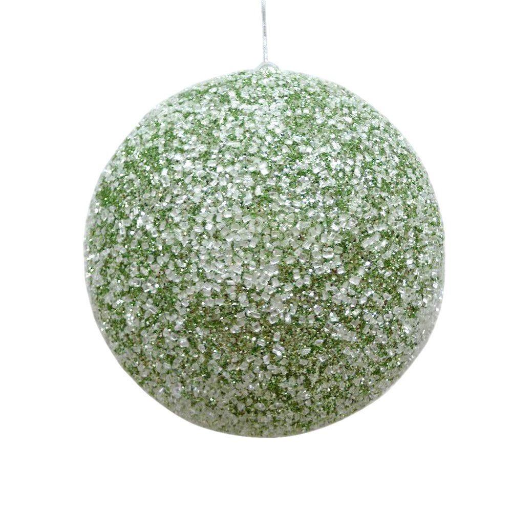 Boule vert menthe givrée ø 20cm