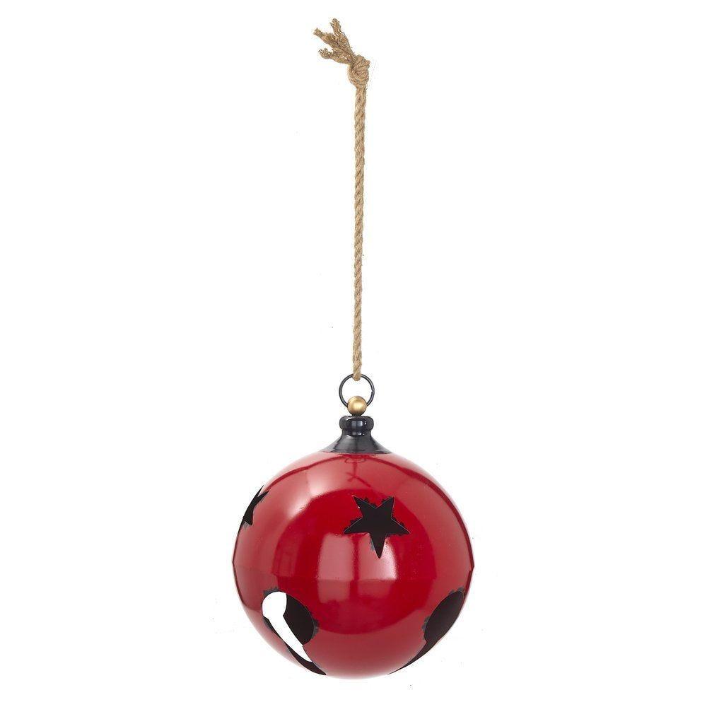 Grelot en métal rouge Ø 34,3 x H 40,6 cm