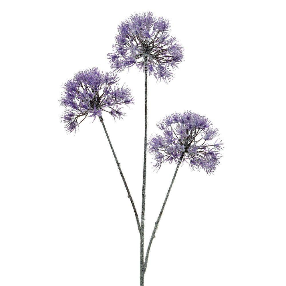 Branche d'allium lilas L 80cm