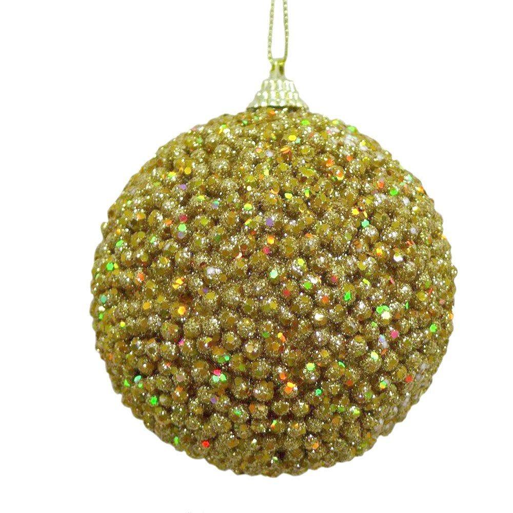 Boules perlées or ø 10 cm - boite de 6
