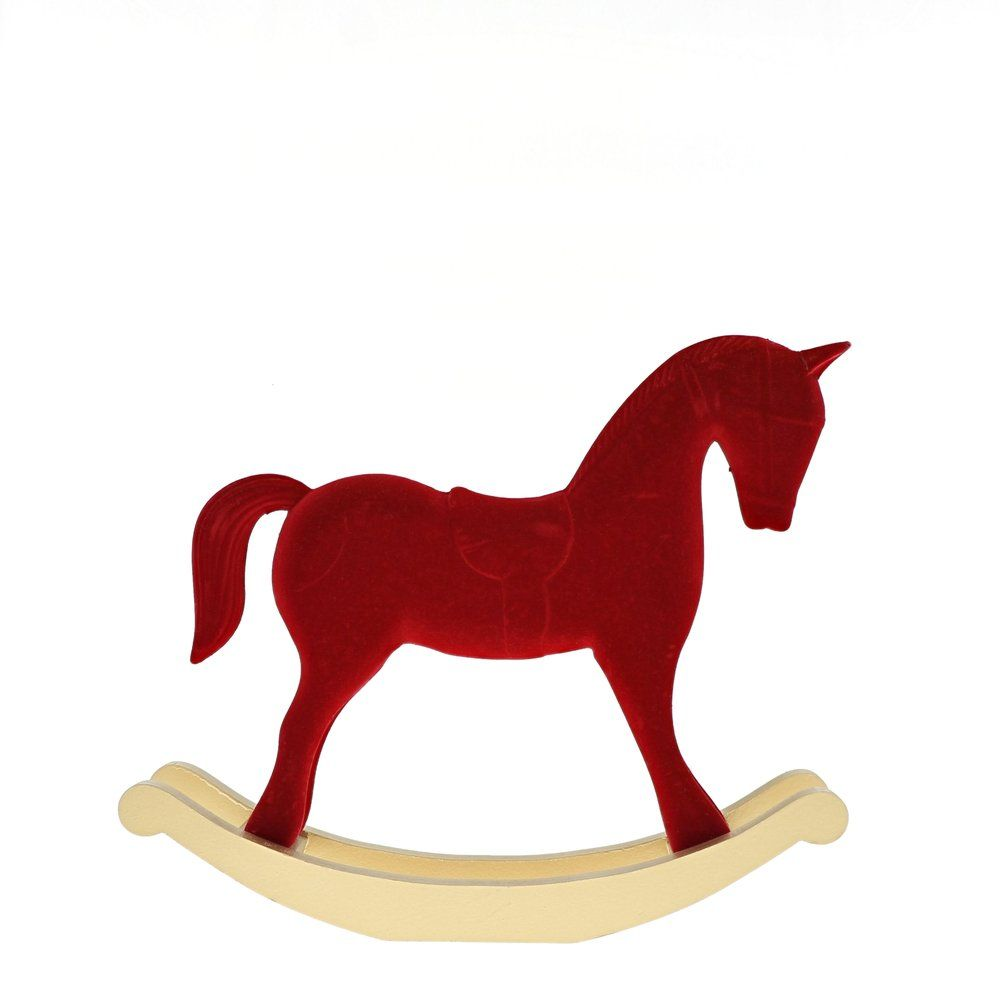 Cheval à bascule rouge L 37,5 x P 8 x H 32 cm