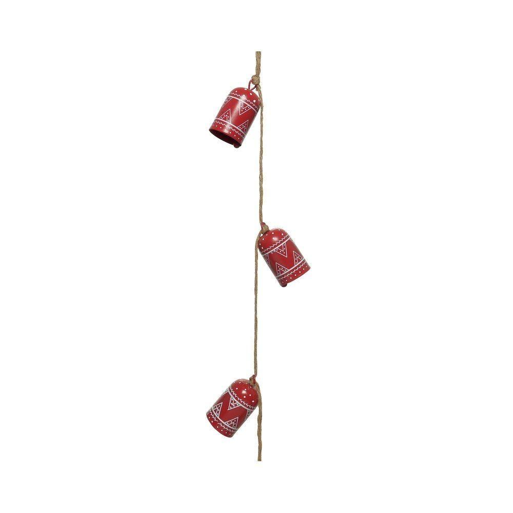 Guirlande de cloches rouges L 110 ccm