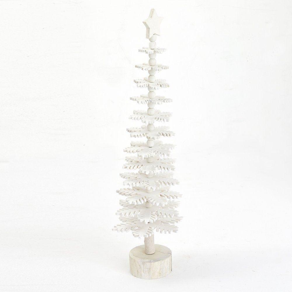 Sapin en flocons de bois blancs ø 16 x H 58 cm