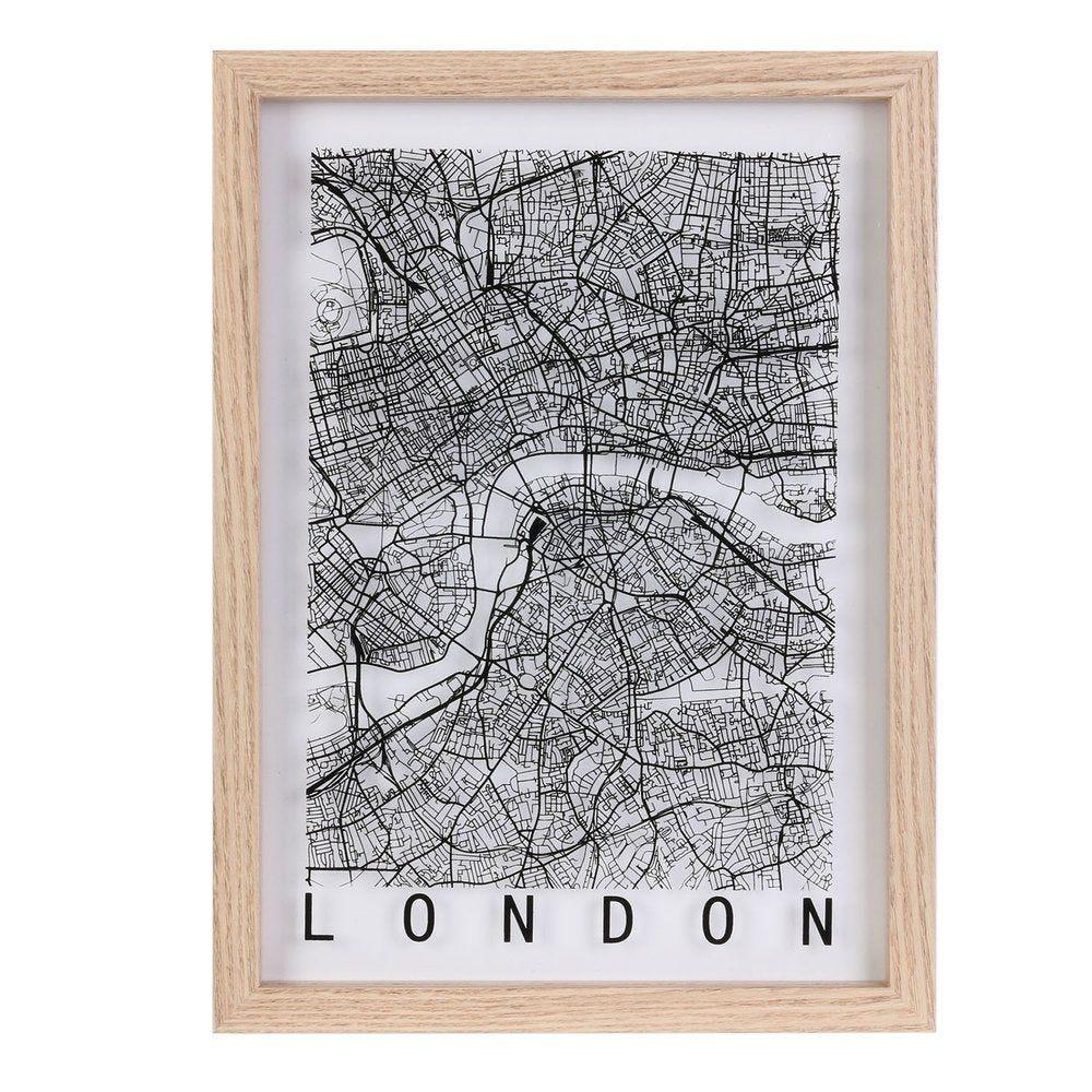 Cadre décoratif Londres - Paris - New-York - 3 modèles possibles (photo)
