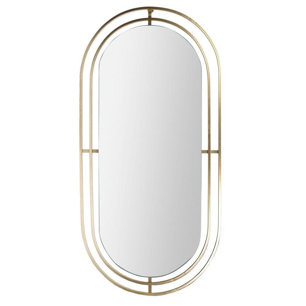 Miroir métal doré m4 90x42.5cm