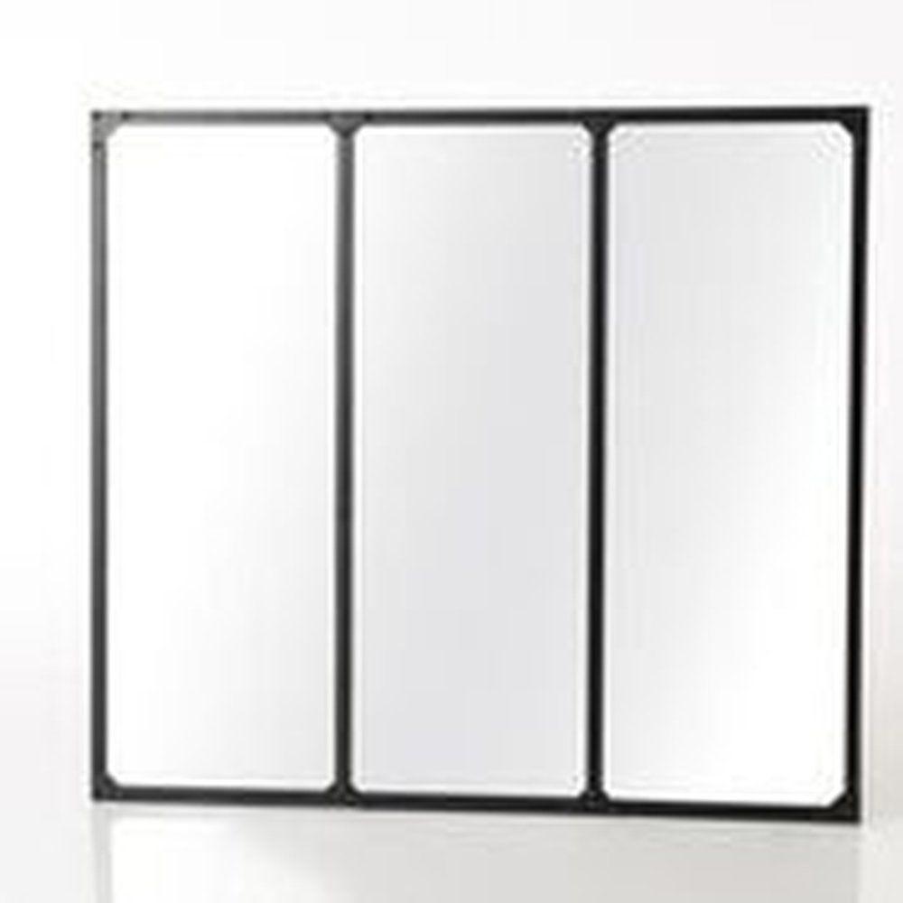 Miroir industriel 3 ventaux L90xP2xH100cm