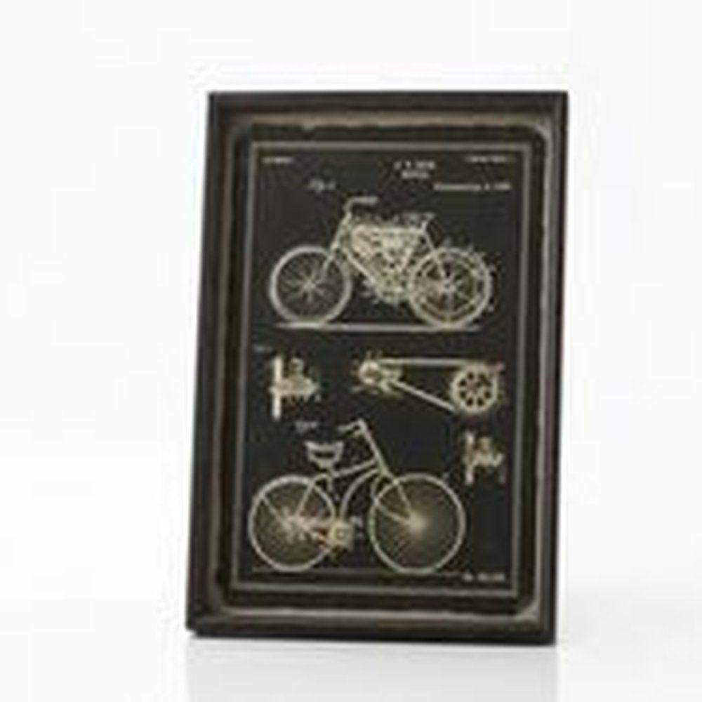 Cadre vélo fond noir 44x7x65cm (photo)