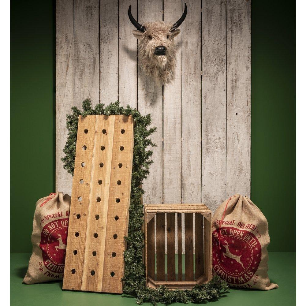 Pack vitrine Noël caviste nature