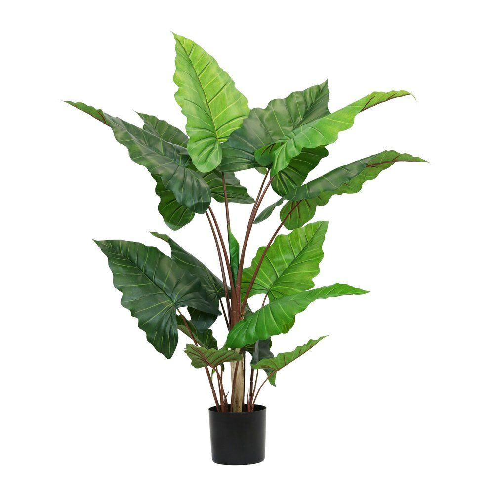 Alocasia artificiel dans pot H 150 cm