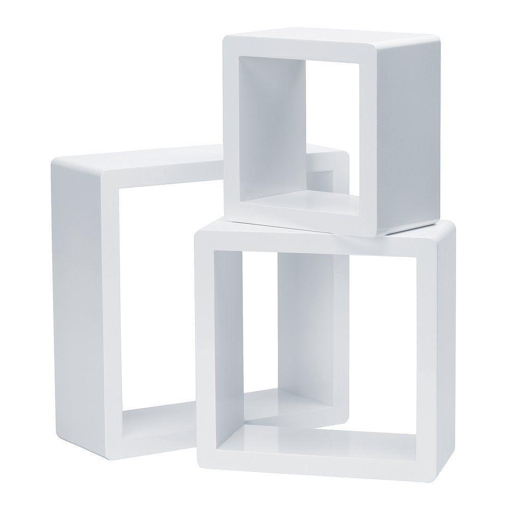Set cubes blanc laqué 17x17+22x22+27x27cm - par 3 (photo)