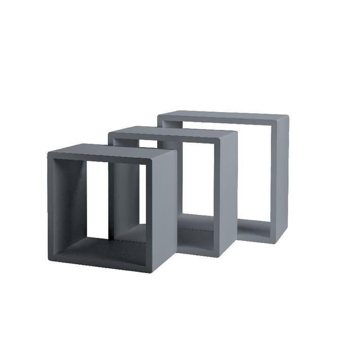 Set cubes anthracite mat 31x20+35x20+39x20cm par 3 (photo)