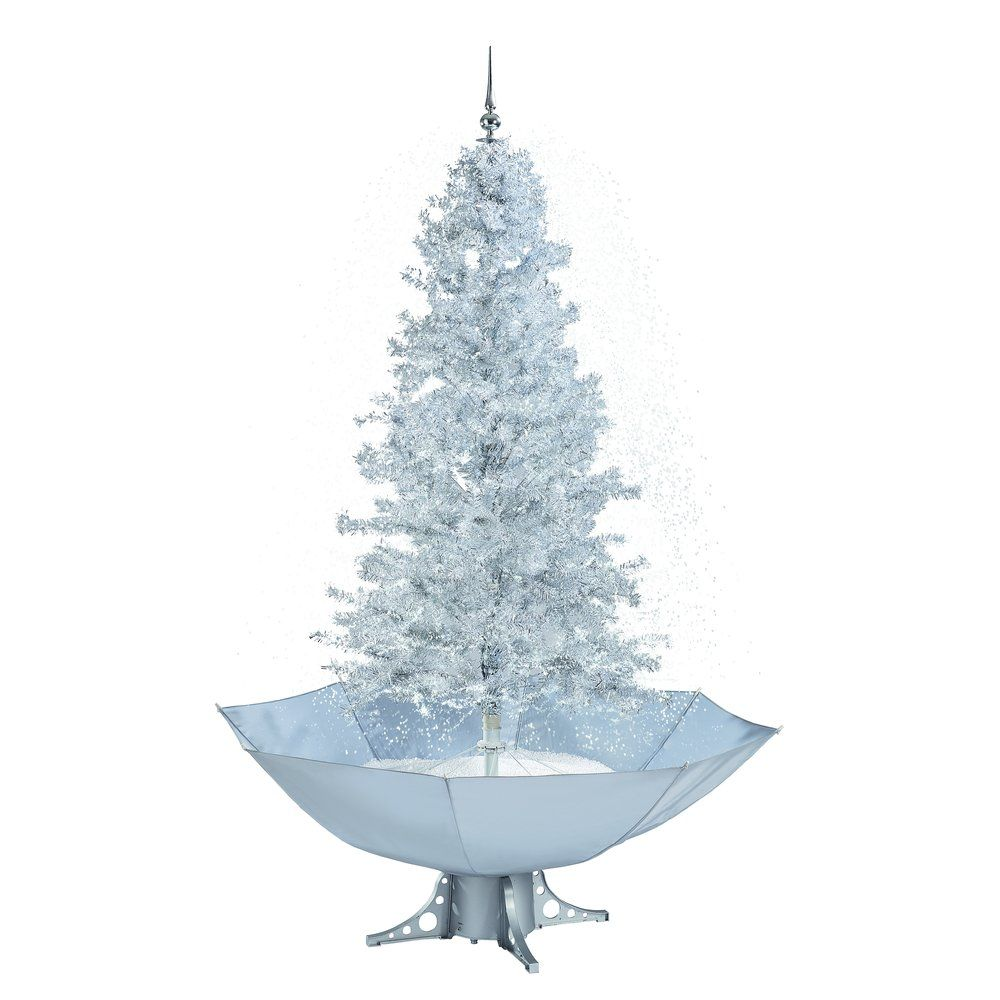 Sapin souffleur de neige blanc H.170cm (photo)