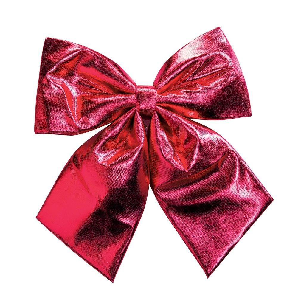 Noeud tissu rouge L.35 x H.35cm (photo)