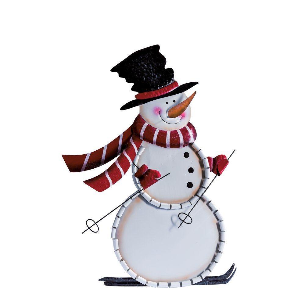 Bonhomme de neige en métal 75cm (photo)