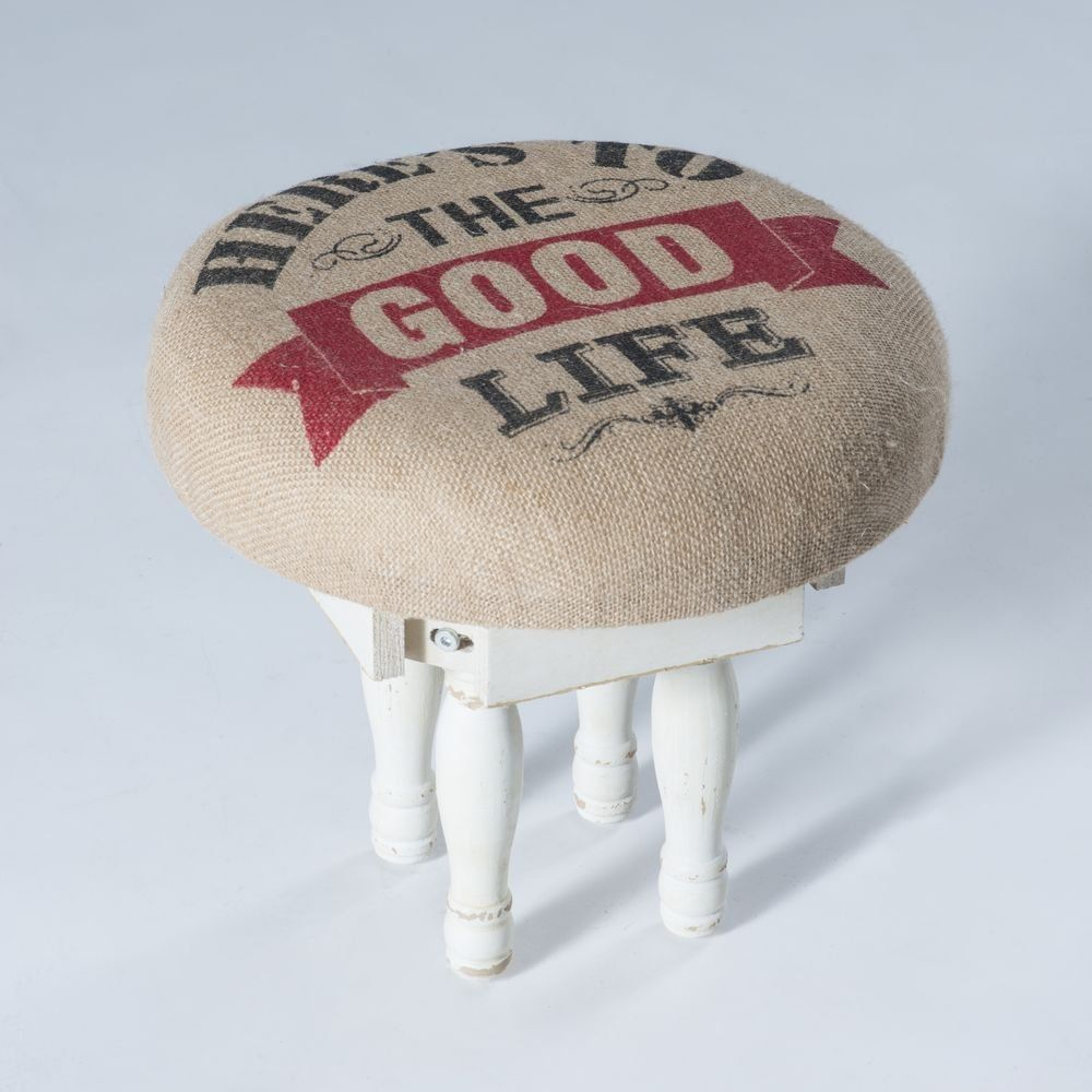 Tabouret 'Good life' bois 33x32cm (photo)