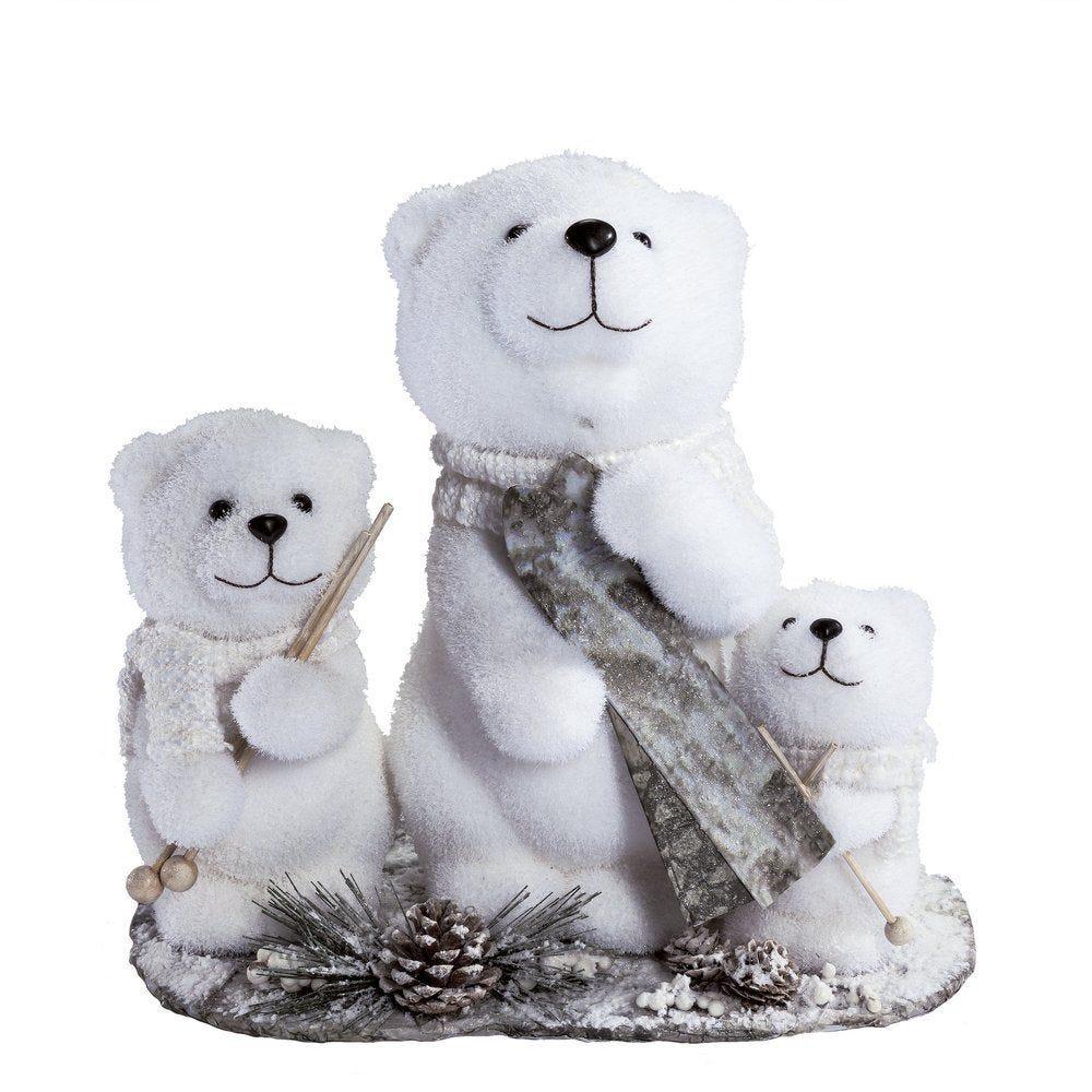 Famille ours sur socle 20,5 x 37,5 x 35,5 cm (photo)