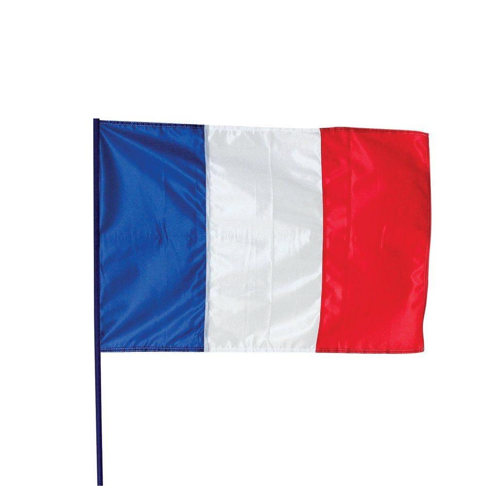 Drapeau France maille polyester en 60x90cm (photo)