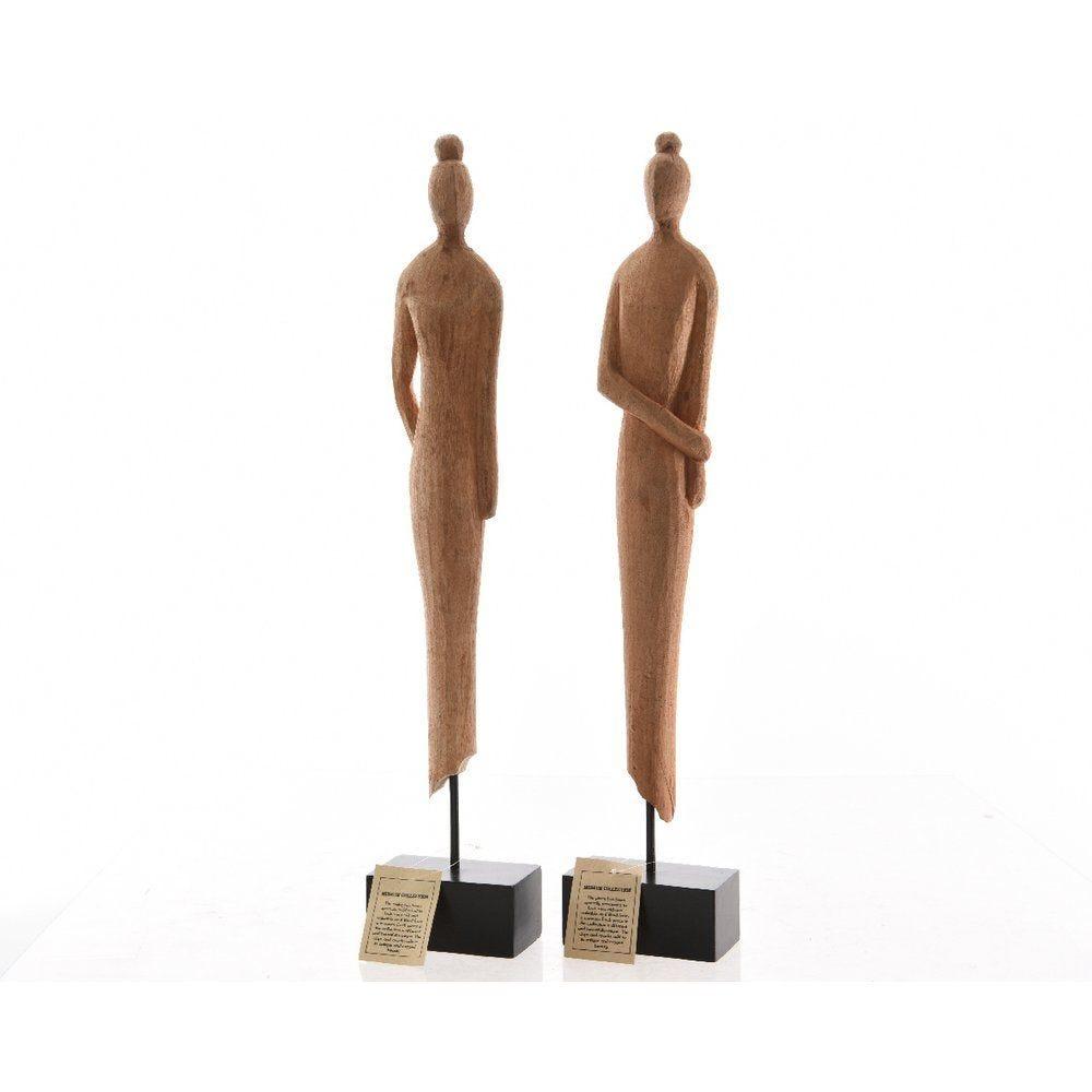 Statuette en bois H.71cm - 2 modèlespossibles (photo)