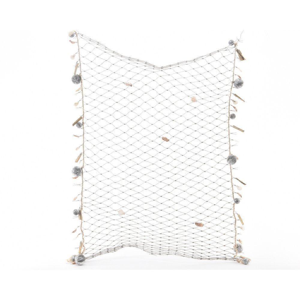 Filet de pêche 1x1,40m décoré de coquillages et boules (photo)