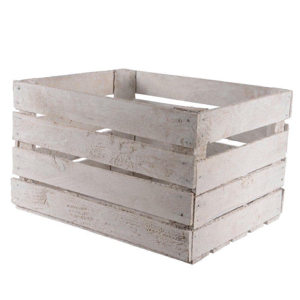 Caisse en bois blanc 50x40x30cm (photo)