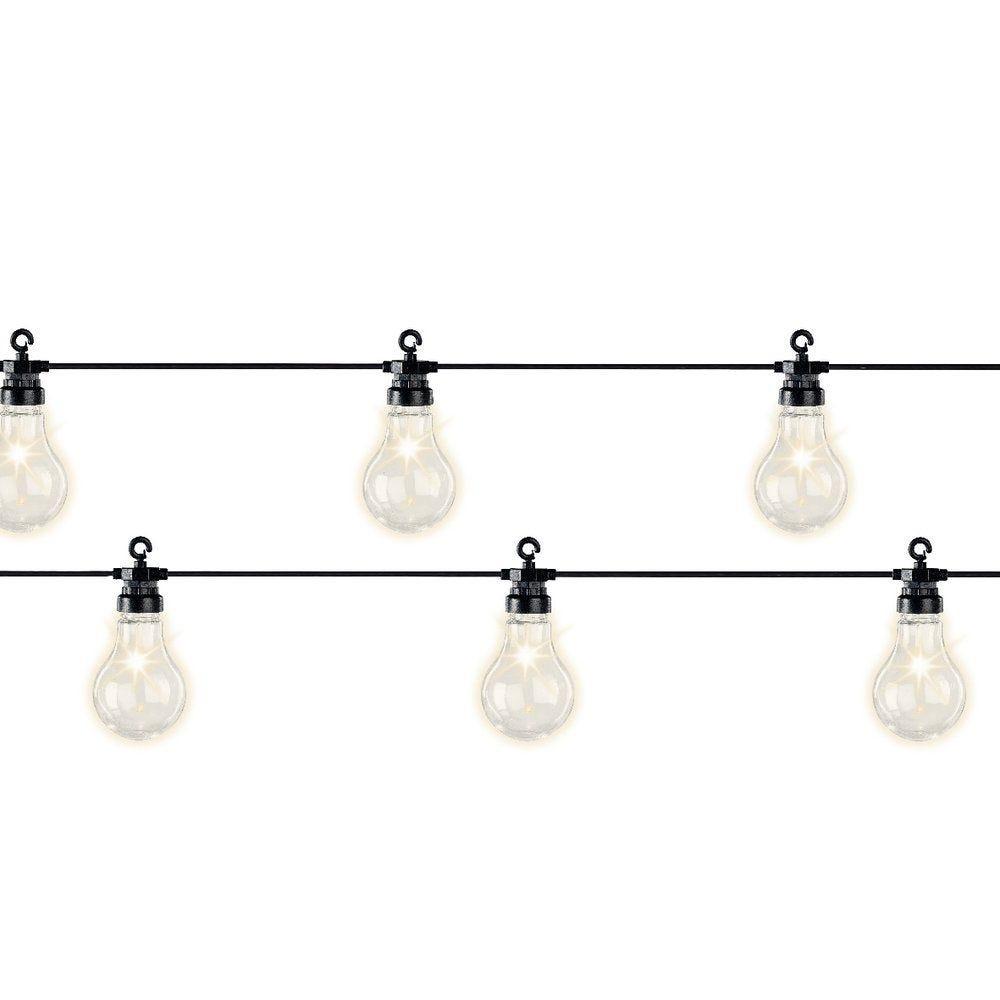 Guirlande ampoules en plastique 20 leds blanc chaud 9,5m (photo)