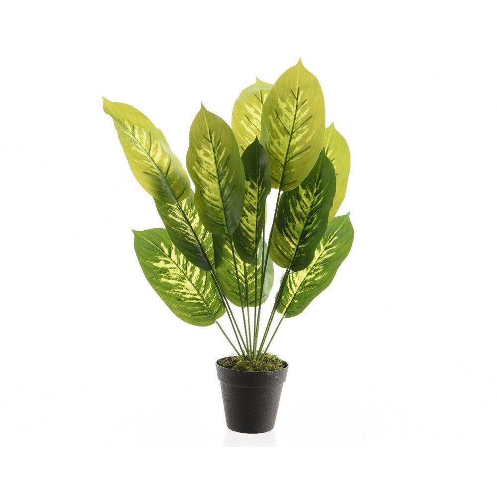 Plante verte artificielle dans pot 50cm (photo)