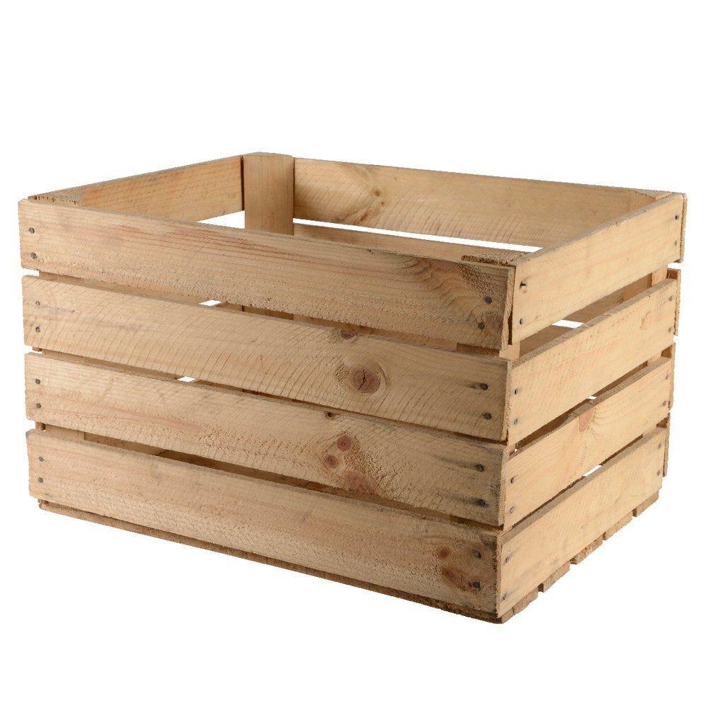 Caisse en bois brut 40x50x30cm (photo)