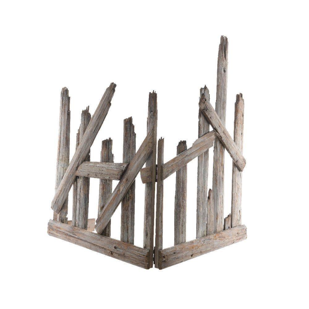 Barrière en bois pliable L. 140 x H. 88CM (photo)
