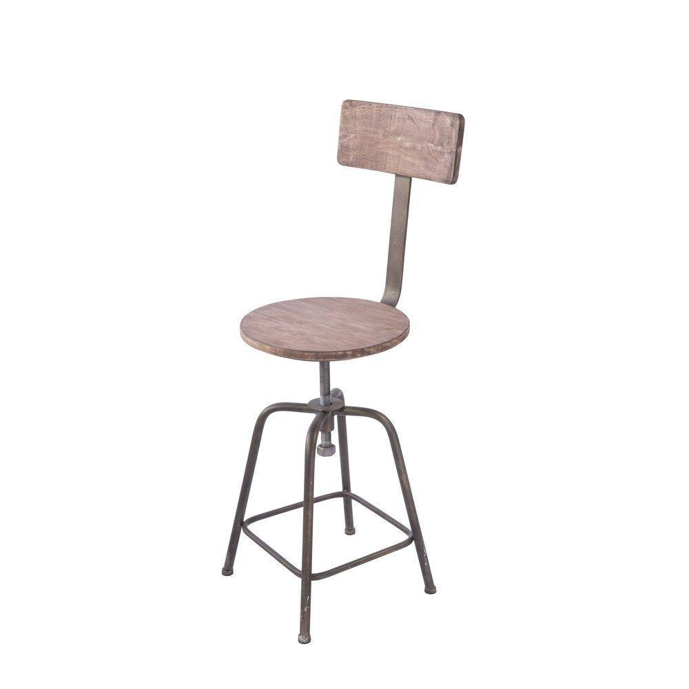 Chaise en métal et bois 34x44x82cm (photo)
