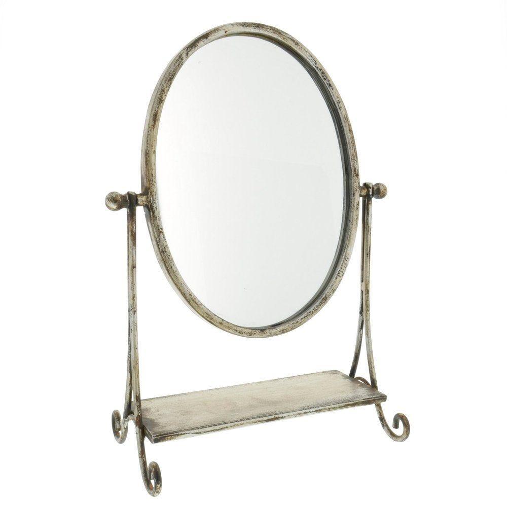 Miroir gris à poser 25x14x35cm (photo)