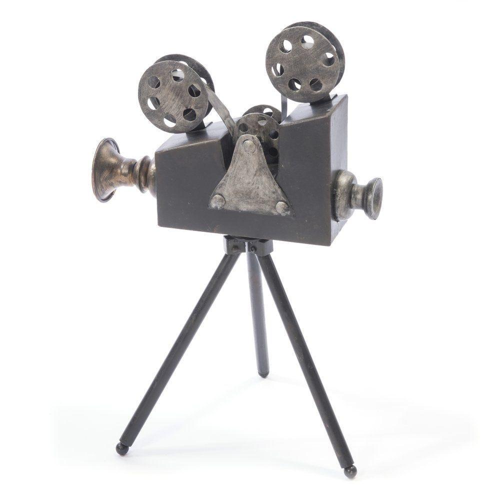 Caméra factice vintage sur pied 20x32x49cm (photo)