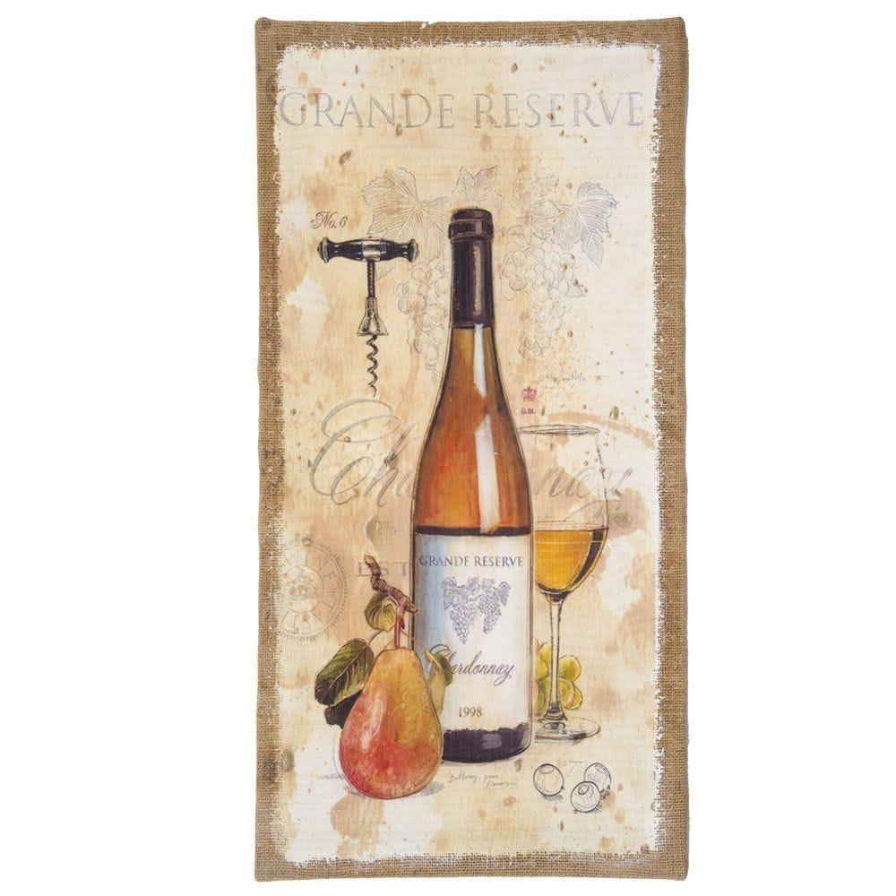 Toile décor vinicole 30x60cm (photo)