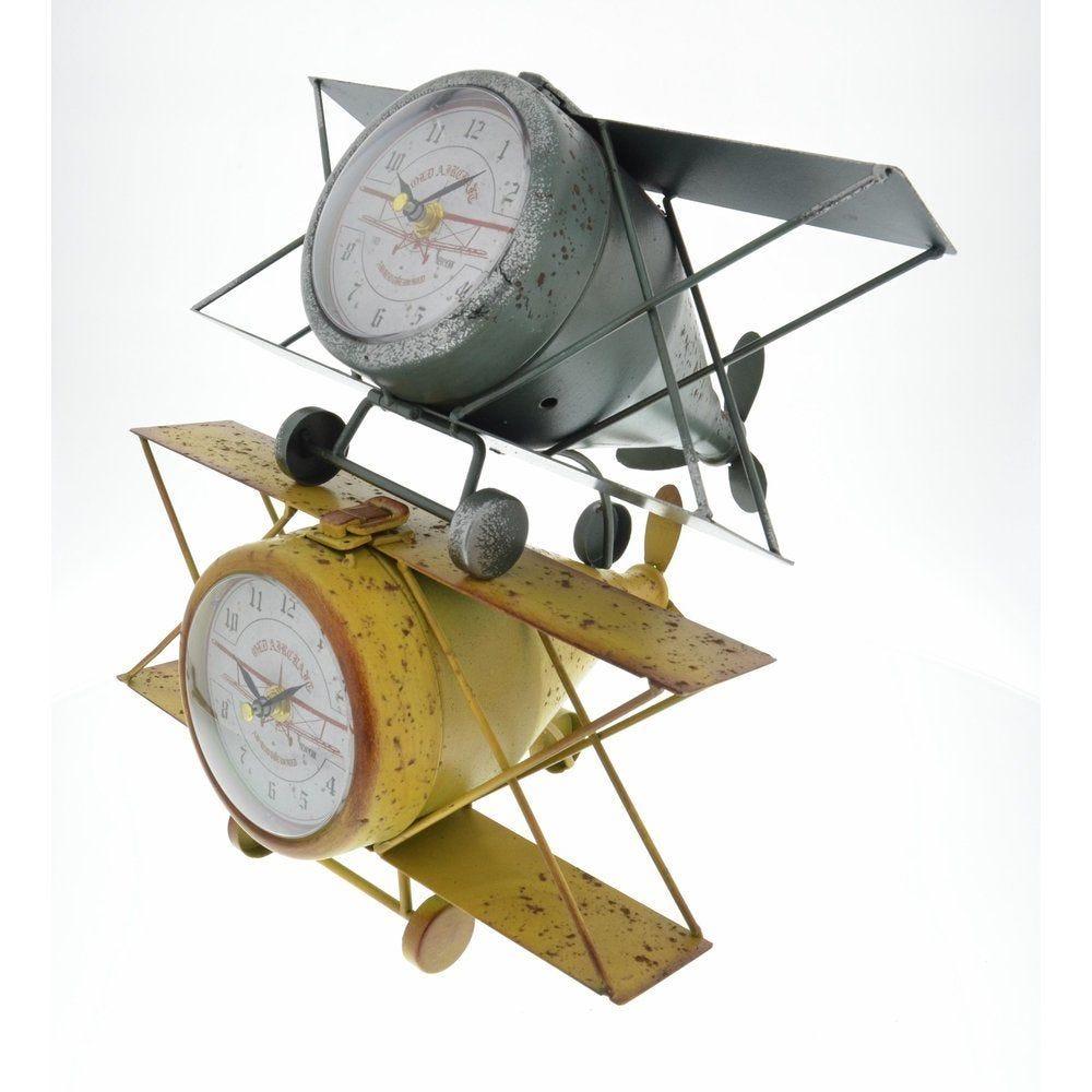 Avion horloge 31x24x17cm - 2 coloris en choix (photo)