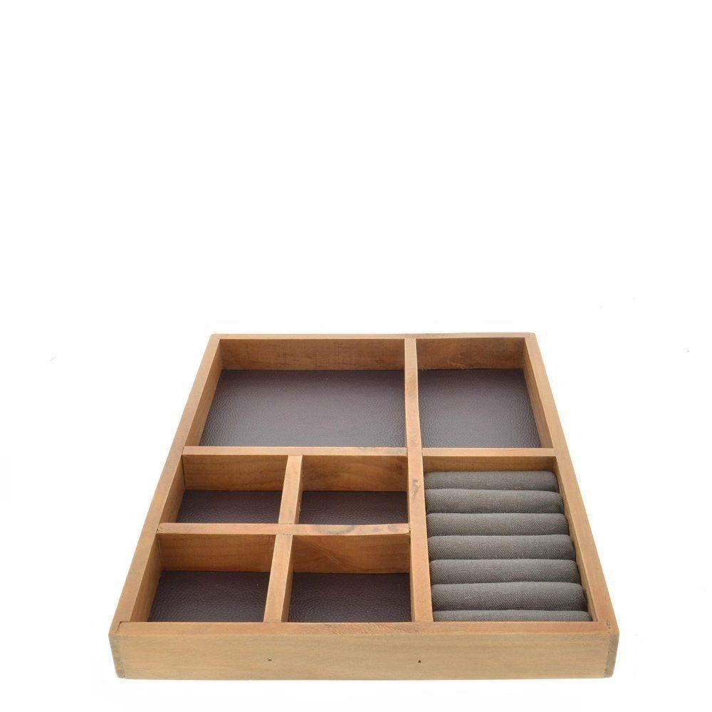 Boîte bijoux à compartiments 24X3X30CM (photo)