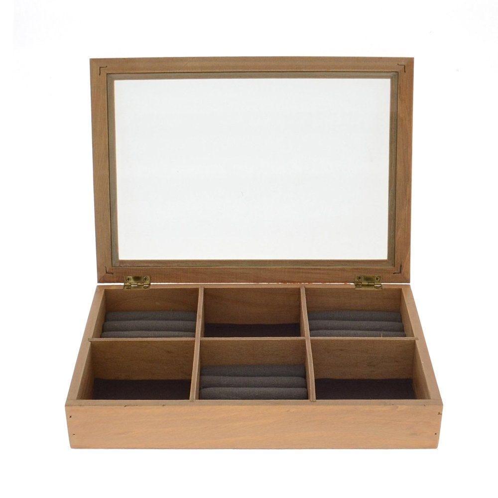 Boîte à bijoux avec couvercle L.29 x P.20 x H.5,2cm (photo)