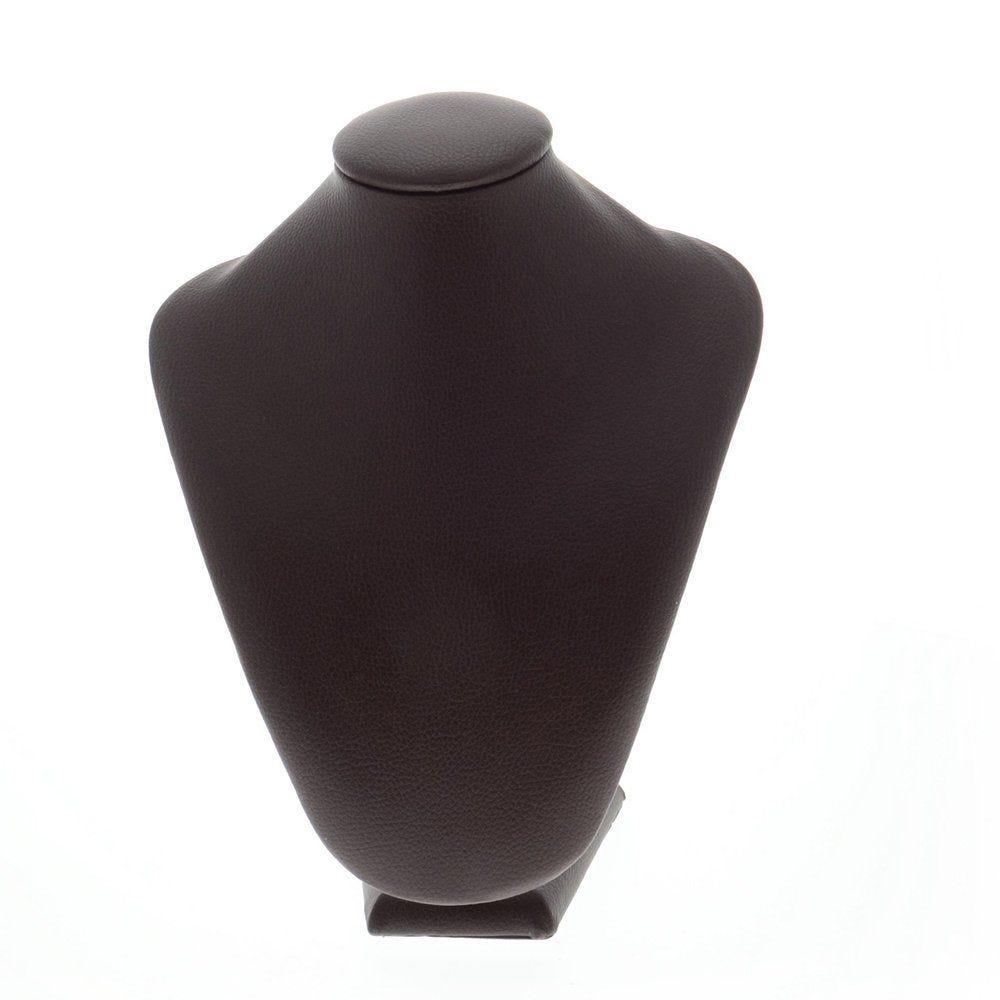Porte collier simili cuir marron 20,5x11,5x26,5cm