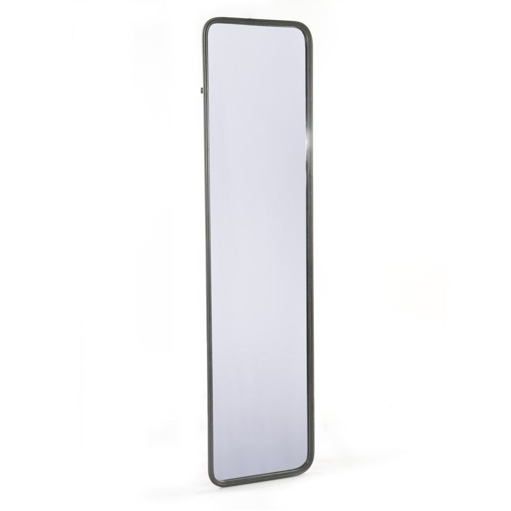 Miroir mural en métal noir 41x158cm (photo)