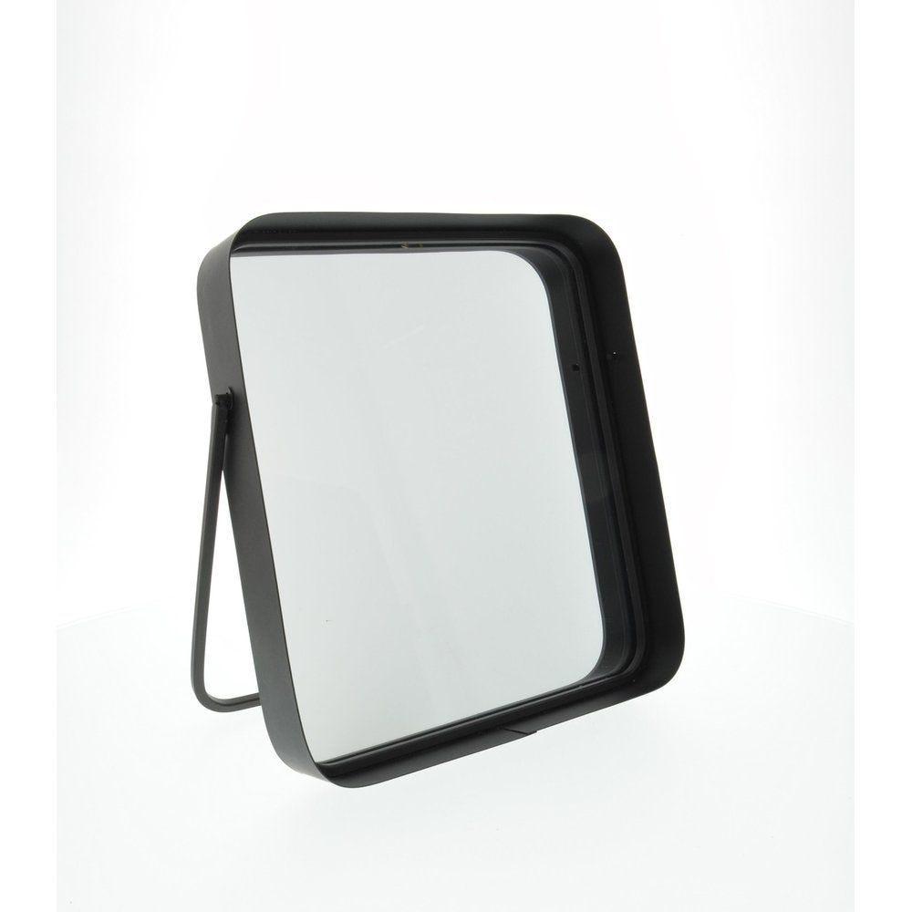 Miroir rectangle noir à poser en 24.5x4x26cm (photo)