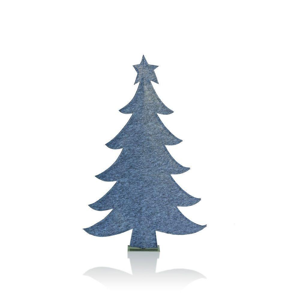 Sapin gris en feutrine H.120cm (photo)