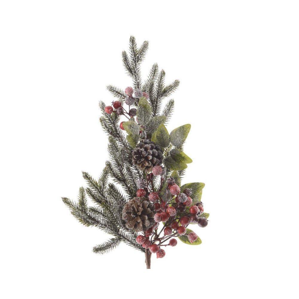 Branche sapin décorée 68cm (photo)