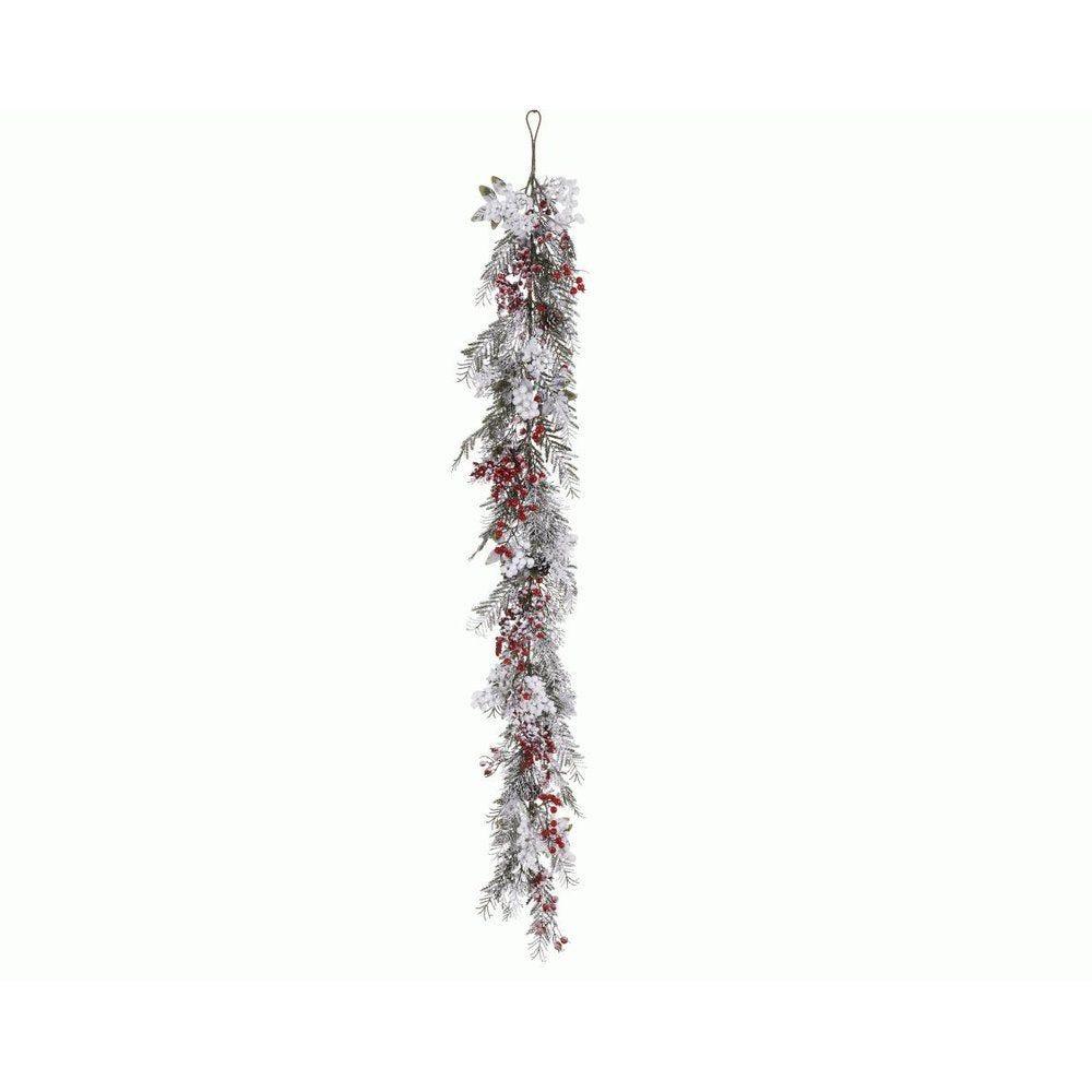 Guirlande enneigée décorée 176cm (photo)