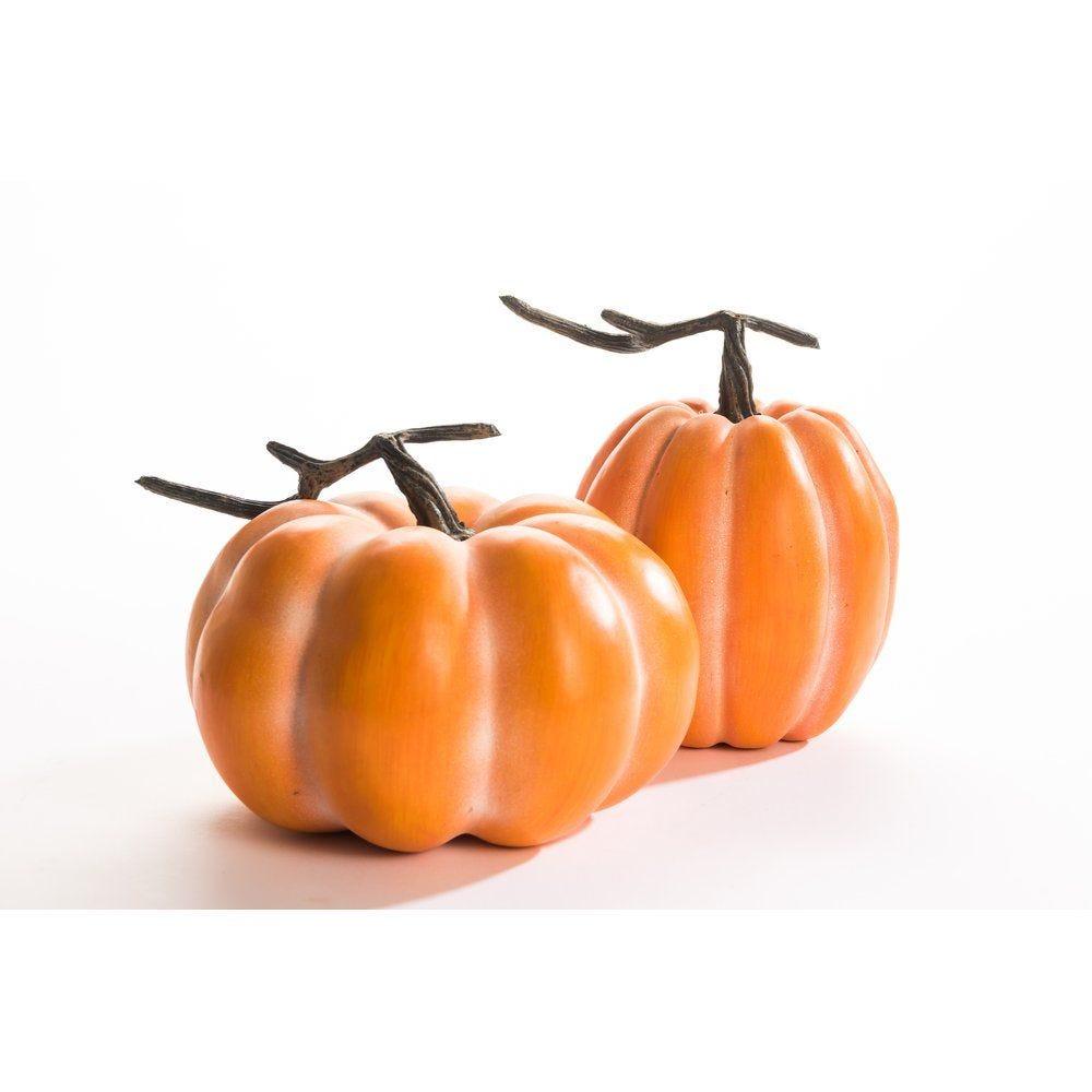 Citrouille orange - 2 dimensions possibles 15x15.5cm ou 20x12cm (photo)